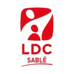 logotipo de LDC pulido con chorro de arena
